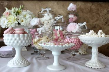 ENgagement party pink lolly buffet