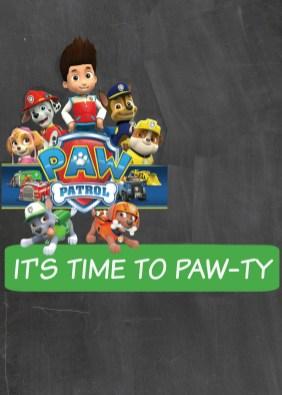 paw patrol party free printables
