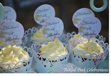 Vintage 1st BDay Party lolly buffet-cupcakes-watermarked