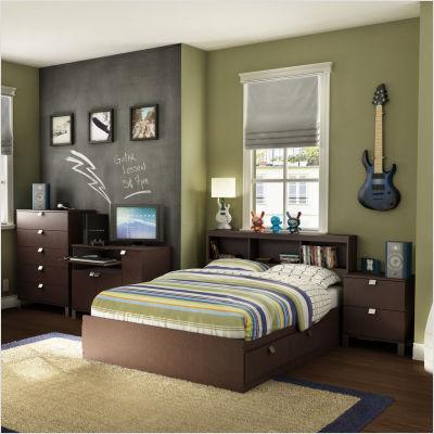 North Carolina Heelsqueen Size Sideline Bedroom Black