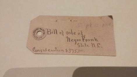 Bill of Sale for an Enslaved Person named Frank at the University of Rochester