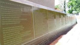 Declaration of Sentiments memorial fountain