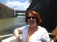 The Author going through a lock on the Erie Canal