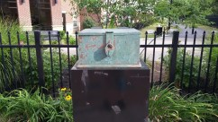 The voting box where Susan B. Anthony voted illegally in 1872