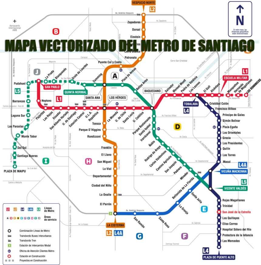Metro de Santiago de Chile / Santiago subway