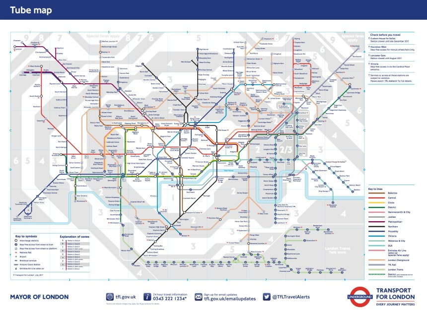 Plano Metro Londres / London subway