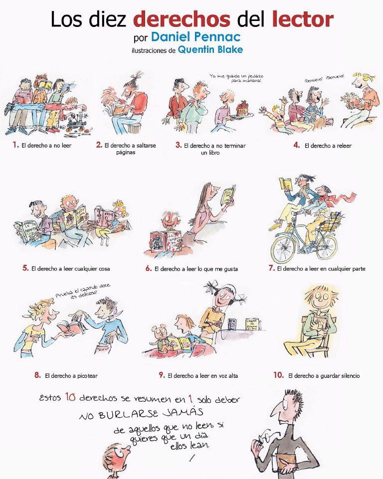 Los 10 derechos del lector