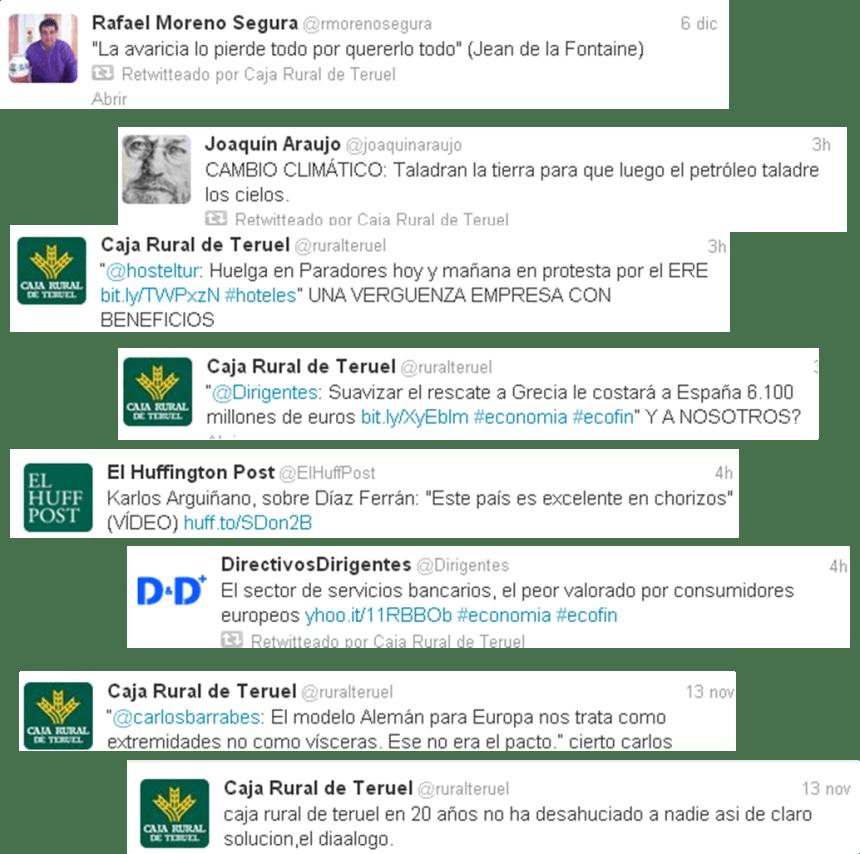 Tweets de Caja Rural de Teruel