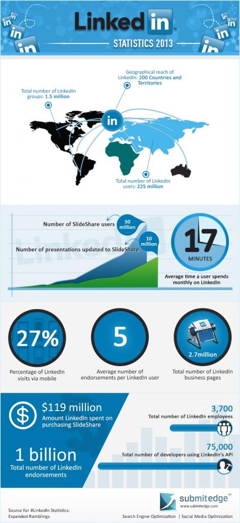 Estadísticas Linkedin 2013