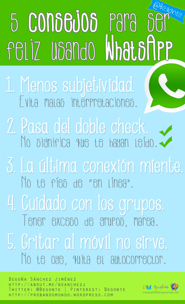 5 consejos para ser feliz usando Whatsapp