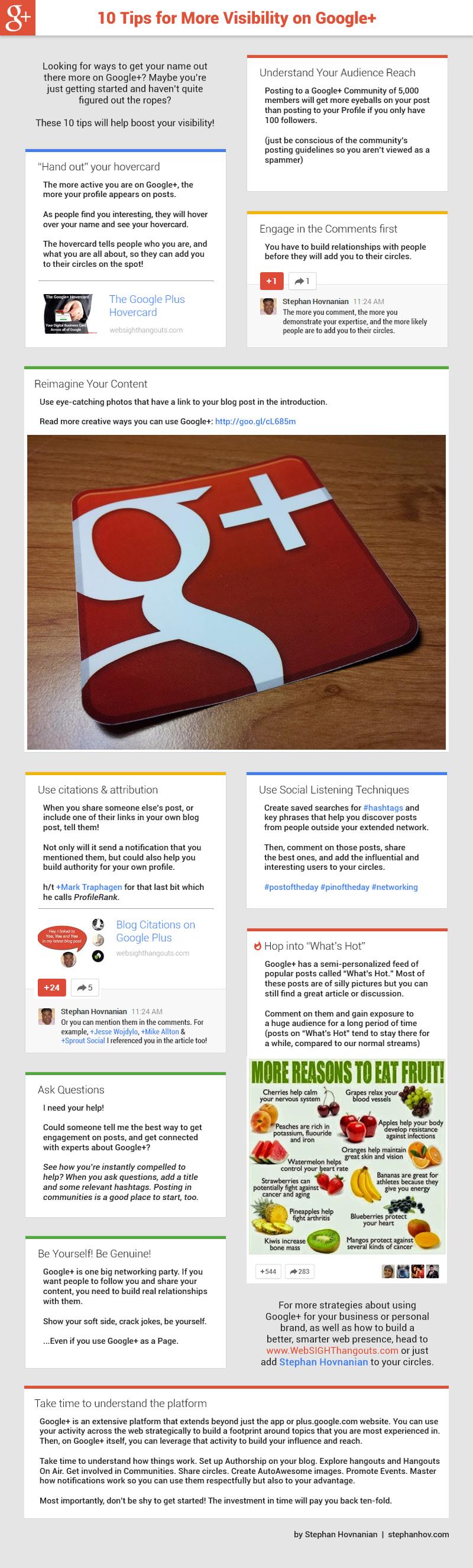 10 consejos para aumentar tu visibilidad en Google +
