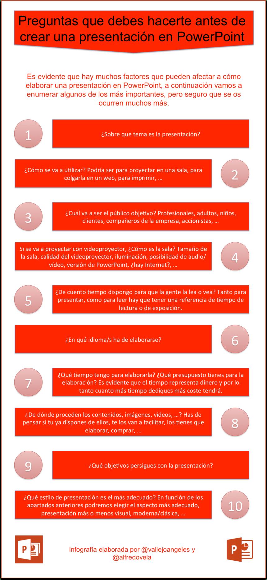 Preguntas que debes hacerte antes de crear una presentación en PowerPoint