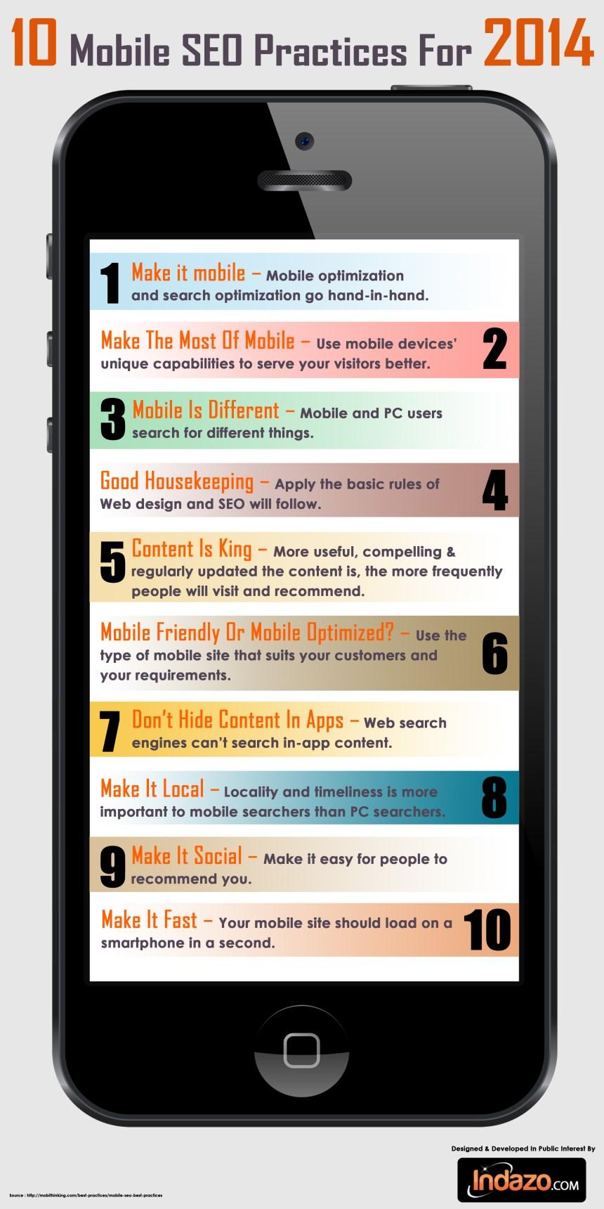 10 buenas prácticas de SEO móvil