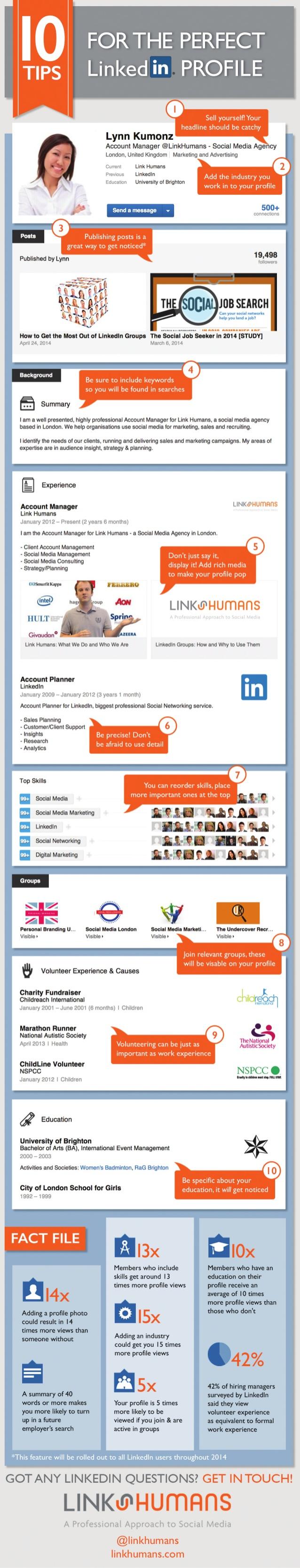 10 consejos para un perfil perfecto en Linkedin