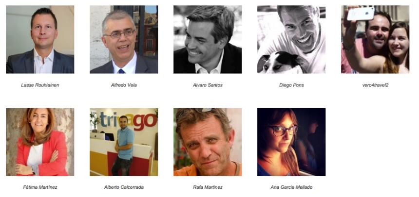 Ponentes I Congreso Nacional de Turismo y Social Media