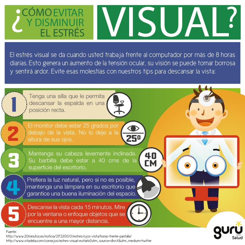Cómo evitar el estrés visual?