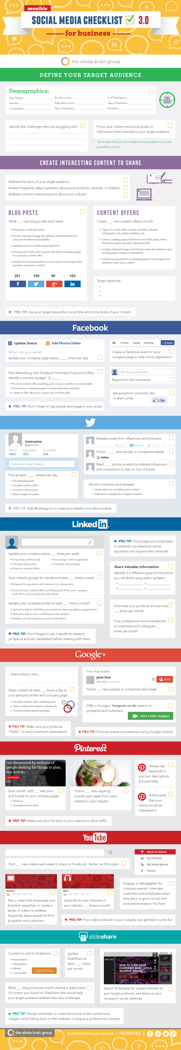 Social Media checklist (versión 3)