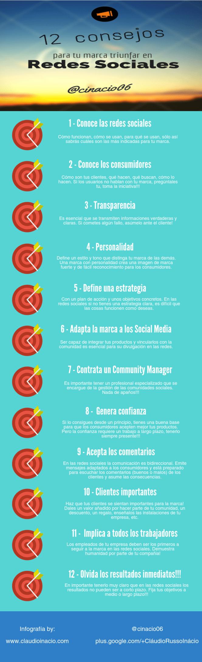 12 consejos para que tu marca triunfe en Redes Sociales