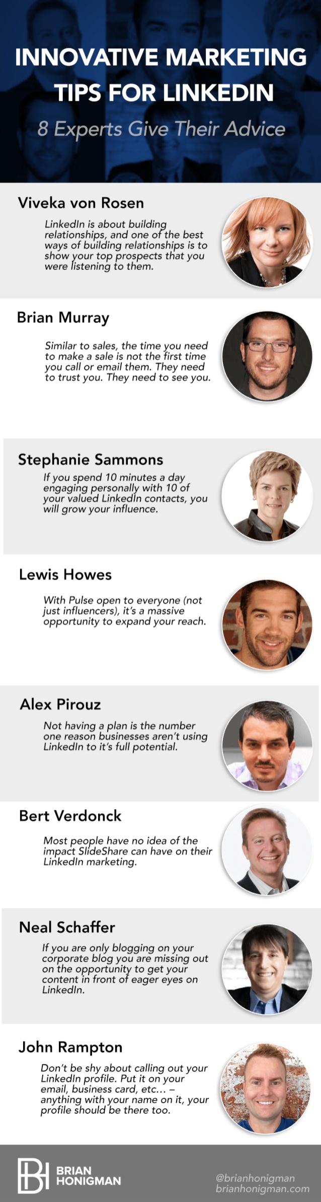 8 consejos sobre marketing en Linkedin