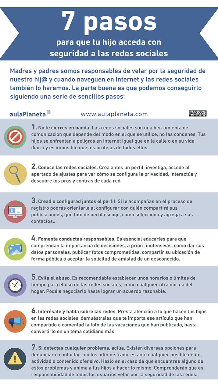 7 pasos para que tu hijo acceda con seguridad a Redes Sociales