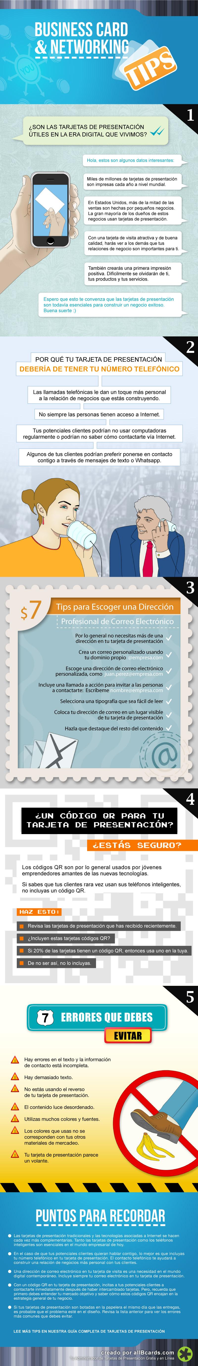 Consejos sobre tarjetas de visita y networking