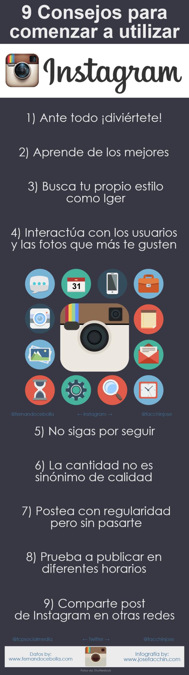 9 consejos para comenzar a usar Instagram