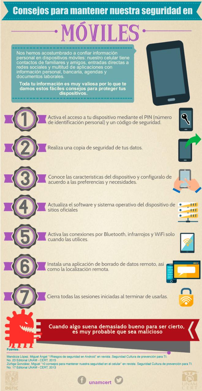 Consejos de seguridad para el móvil