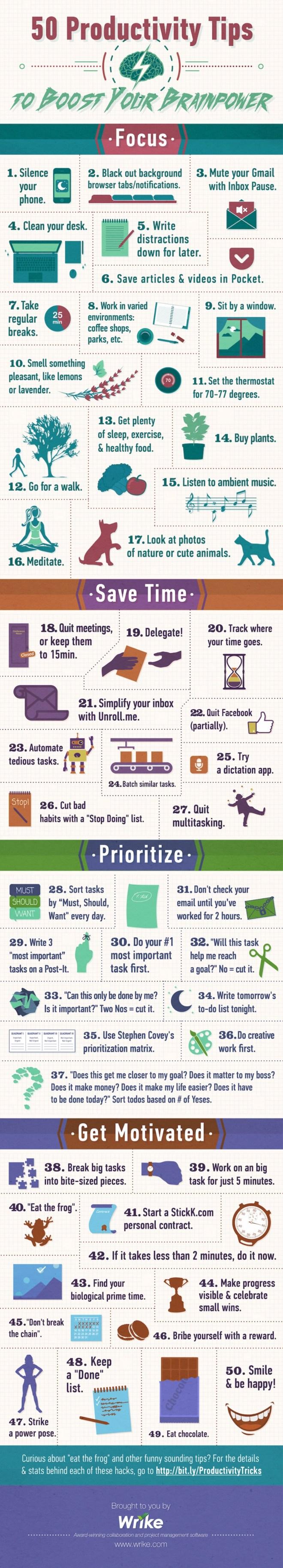 50 consejos para mejorar tu Productividad