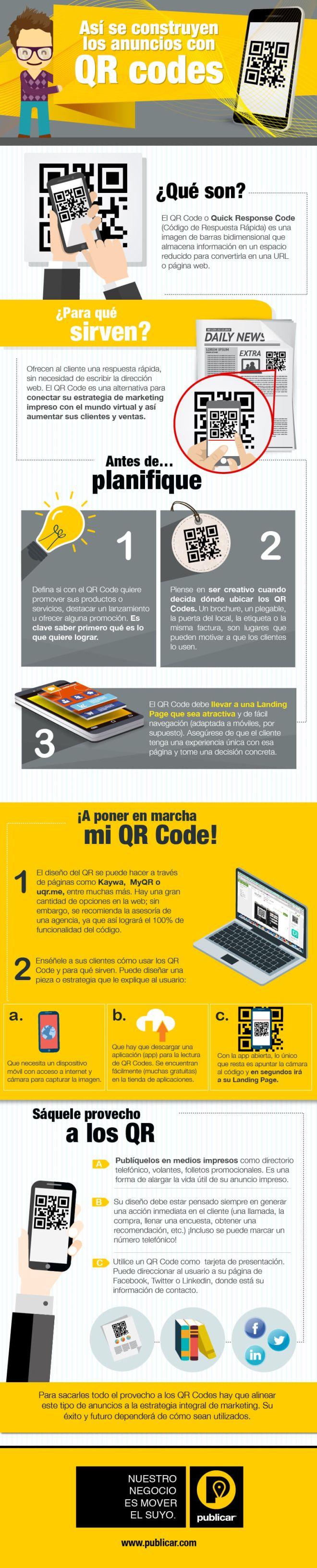 Cómo hacer anuncios con Códigos QR