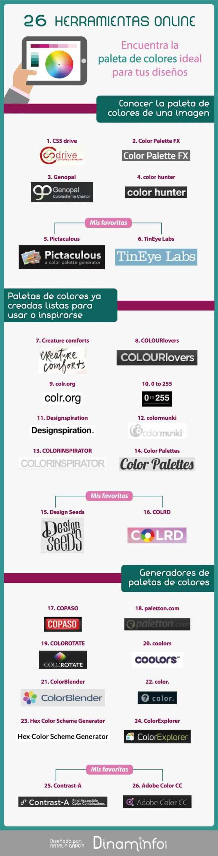 26 herramientas online para elegir la mejor Paleta de Colores
