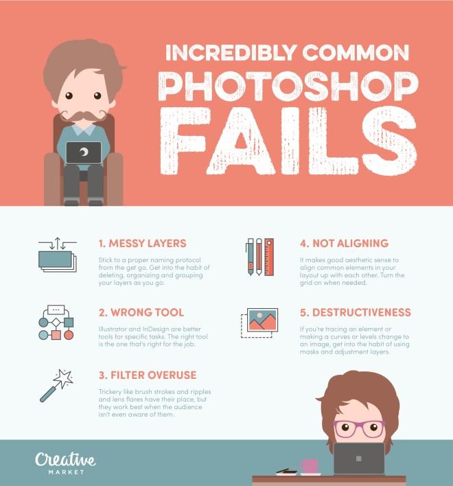 5 errores comunes en Photoshop