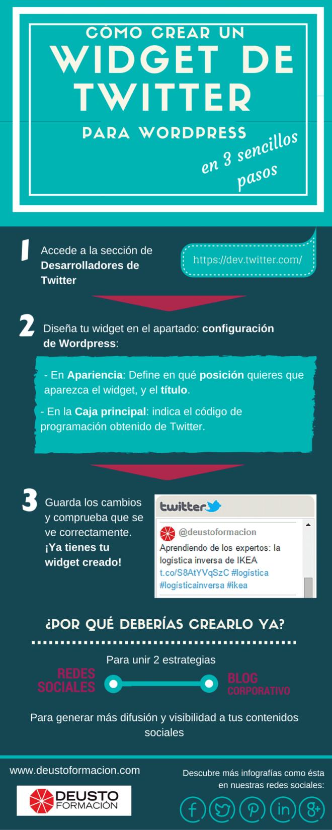 3 pasos para crear un widget de Twitter en WordPress