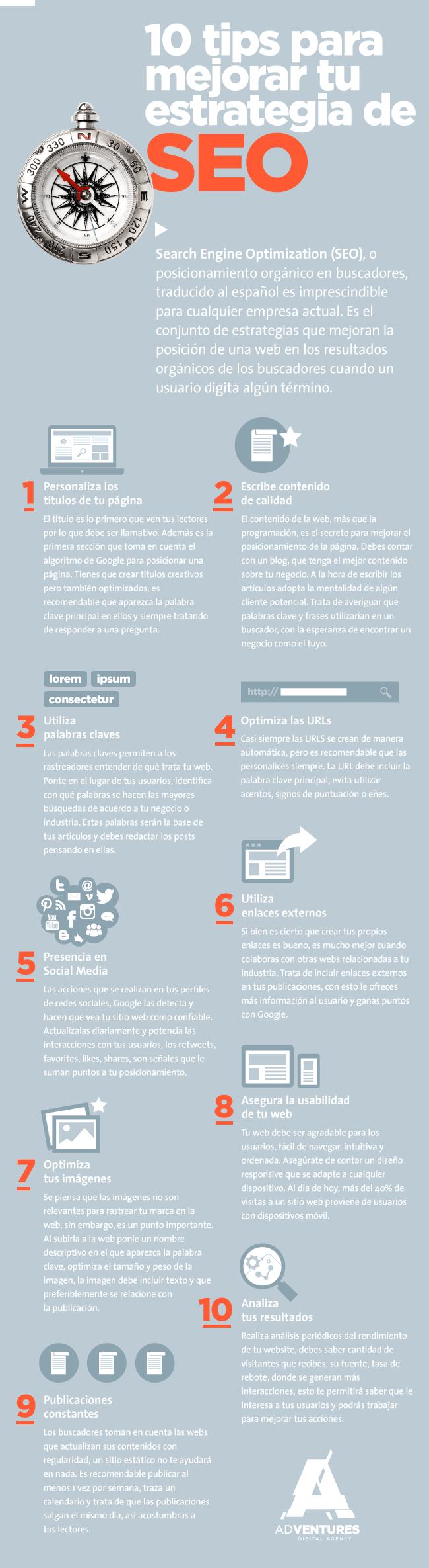 10 consejos para mejorar tu estrategia de SEO