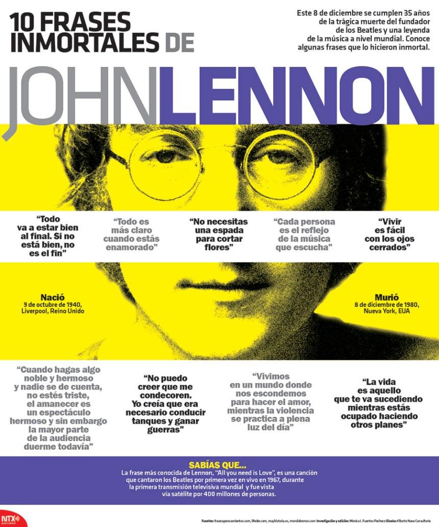 10 citas célebres de john Lennon