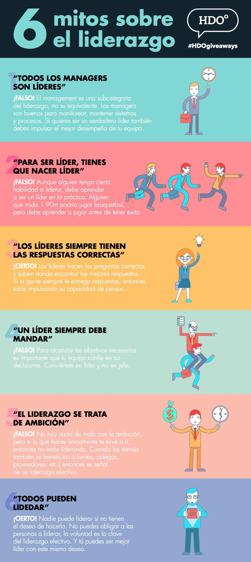 6 mitos sobre el Liderazgo
