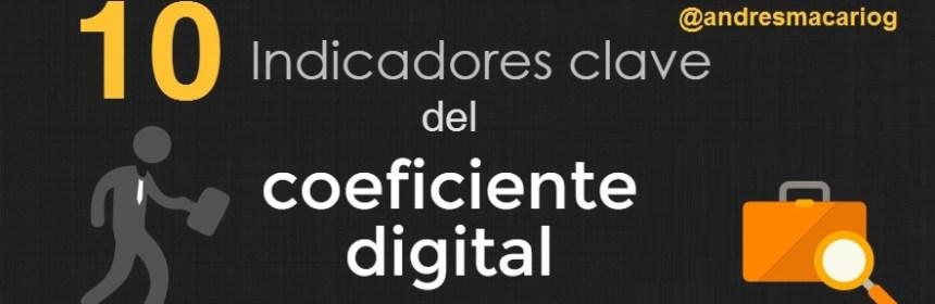 Indicadores del Coeficiente Digital - infografia Andres Macario