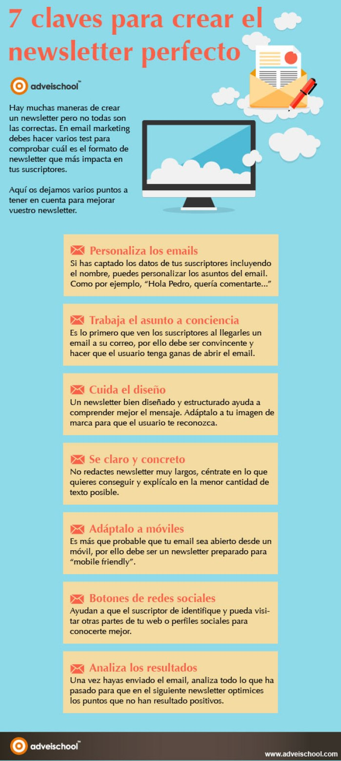 7 claves para crear una NewsLetter perfecta