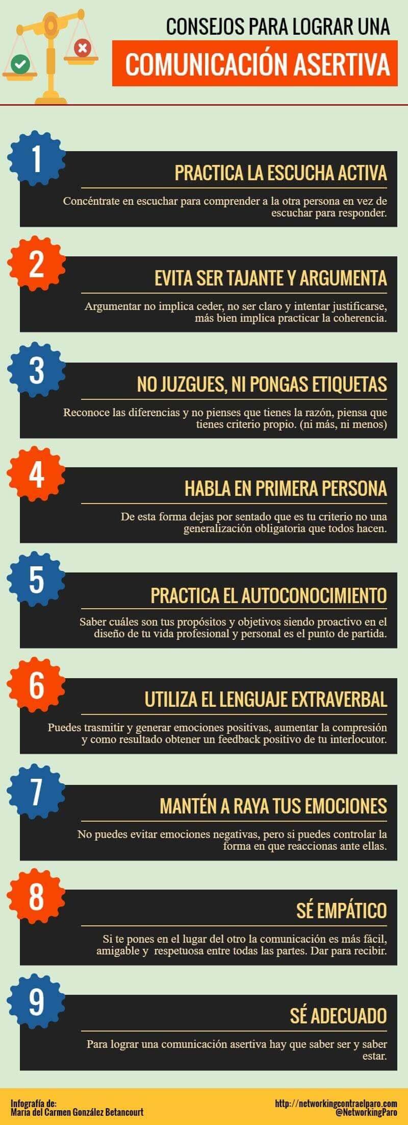 9 consejos para crear una Comunicación Asertiva