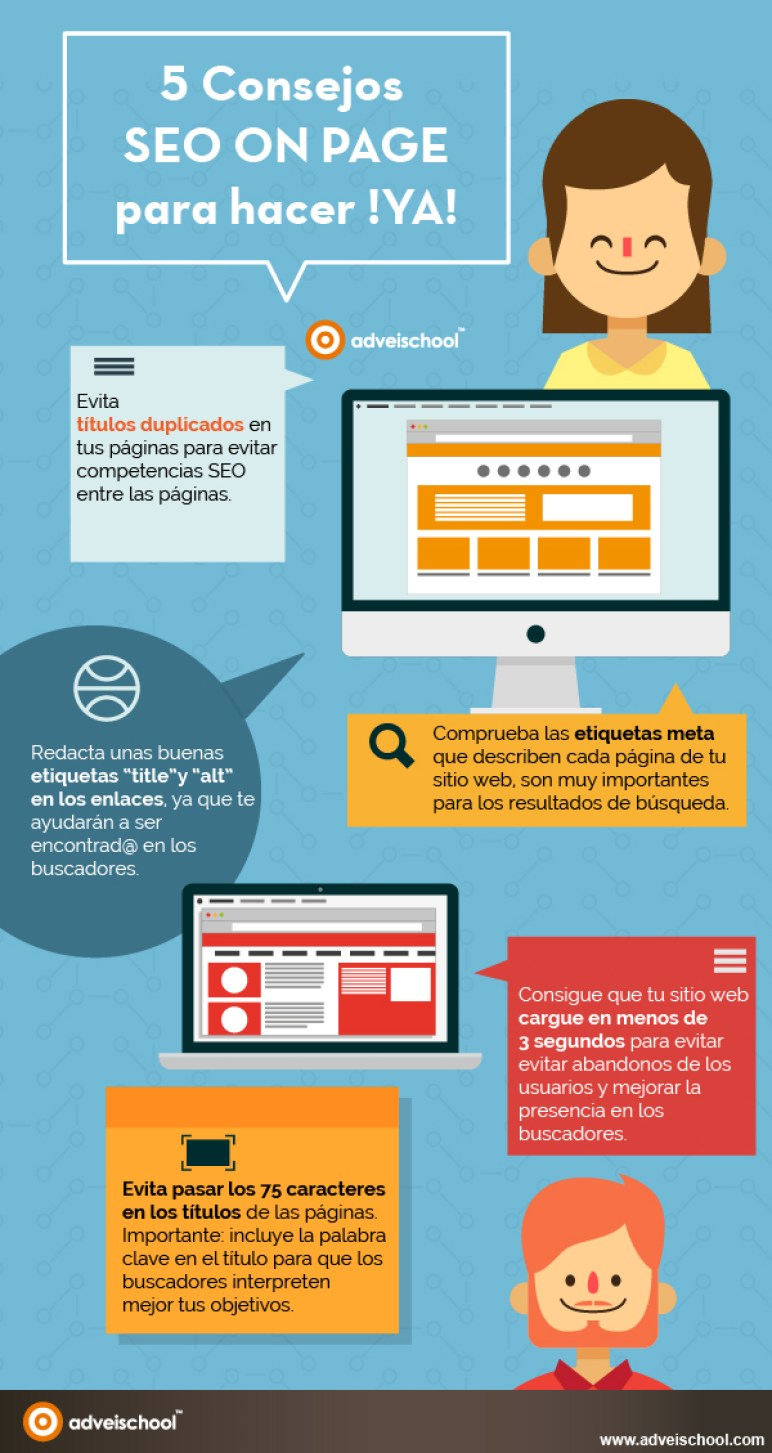 5 consejos SEO On Page para hacer Ya