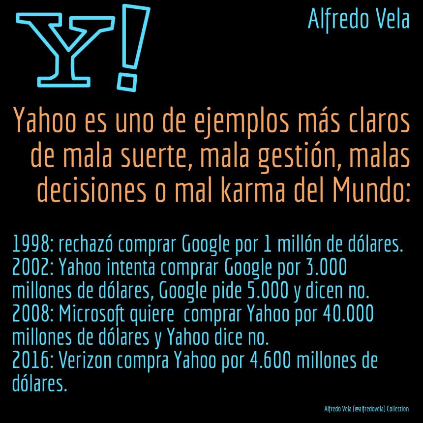 Yahoo: una empresa con muchas malas decisiones