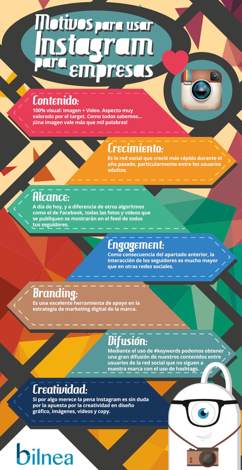 Motivos para usar Instagram para tu Empresa