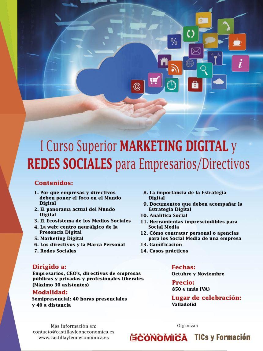 I Curso Superior en Marketing Digital y Redes Sociales para Empresarios y Directivos