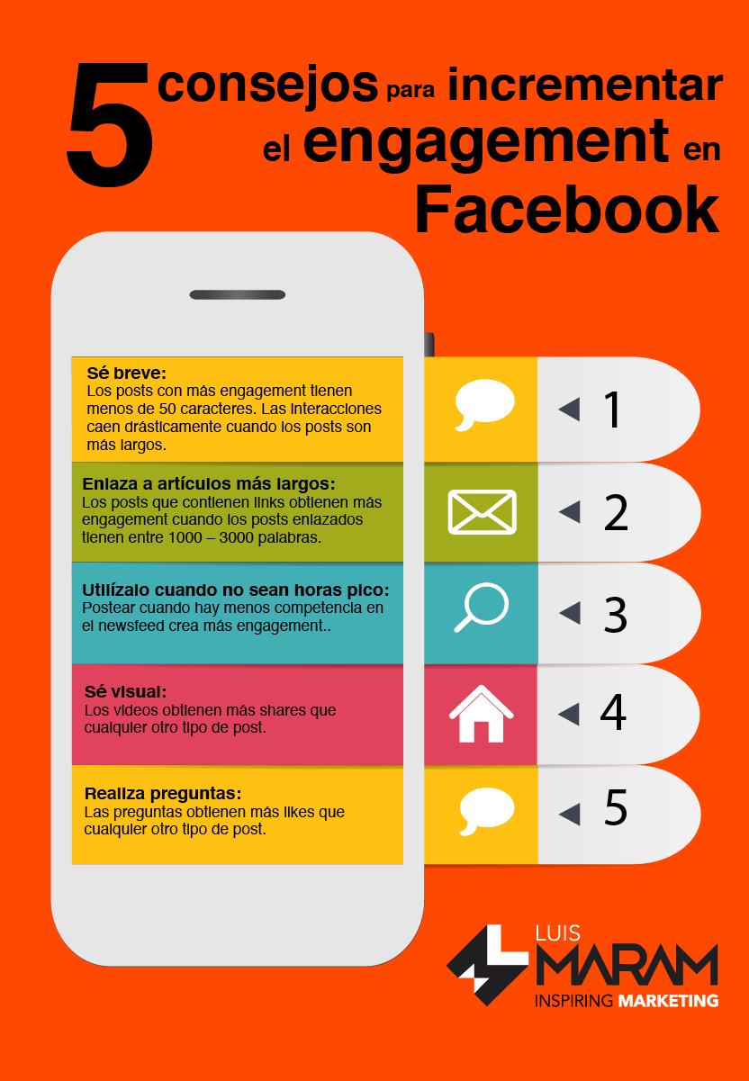 5 consejos para aumentar el engagement en Facebook