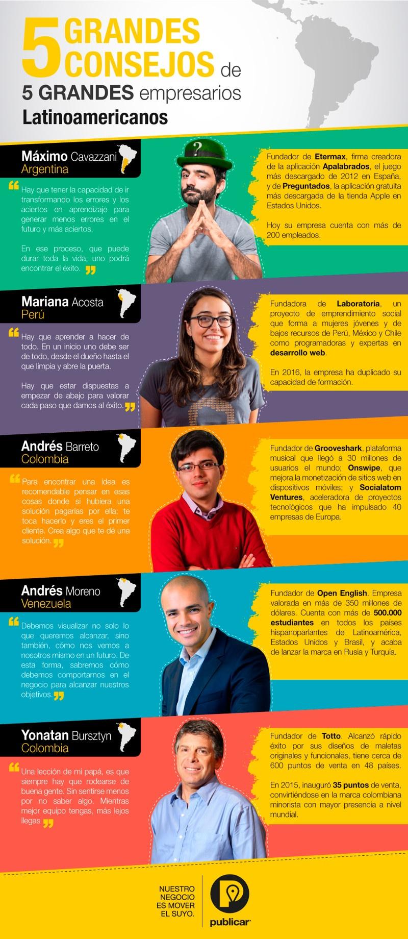 5 consejos de 5 grandes empresarios latinoamericanos
