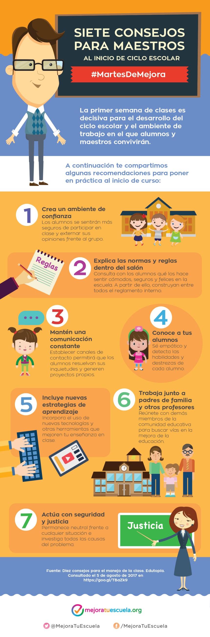 7 consejos para maestros al inicio del ciclo escolar