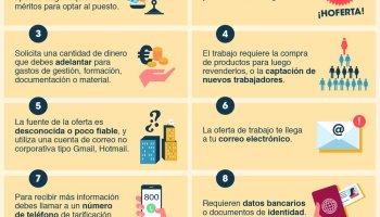 335937fab80 Ofertas de trabajo falsas: 10 indicadores para reconocerlas #infografia  #infographic #empleo