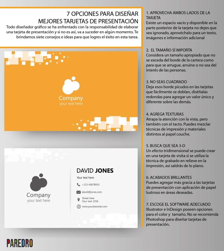 7 maneras de diseñar mejores tarjetas de presentación