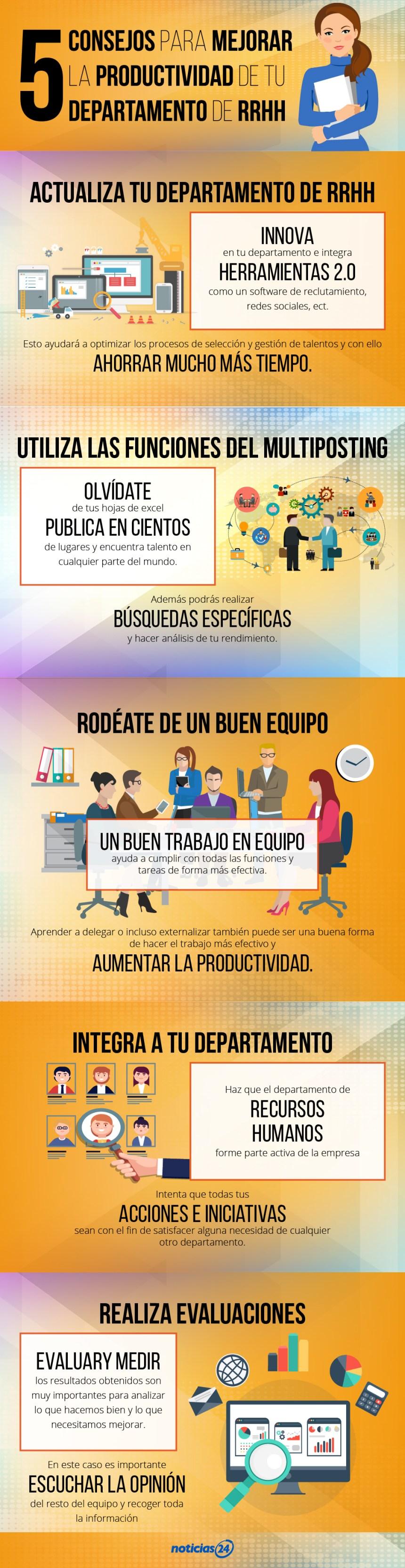 5 consejos para mejorar la productividad de un departamento de Recursos Humanos