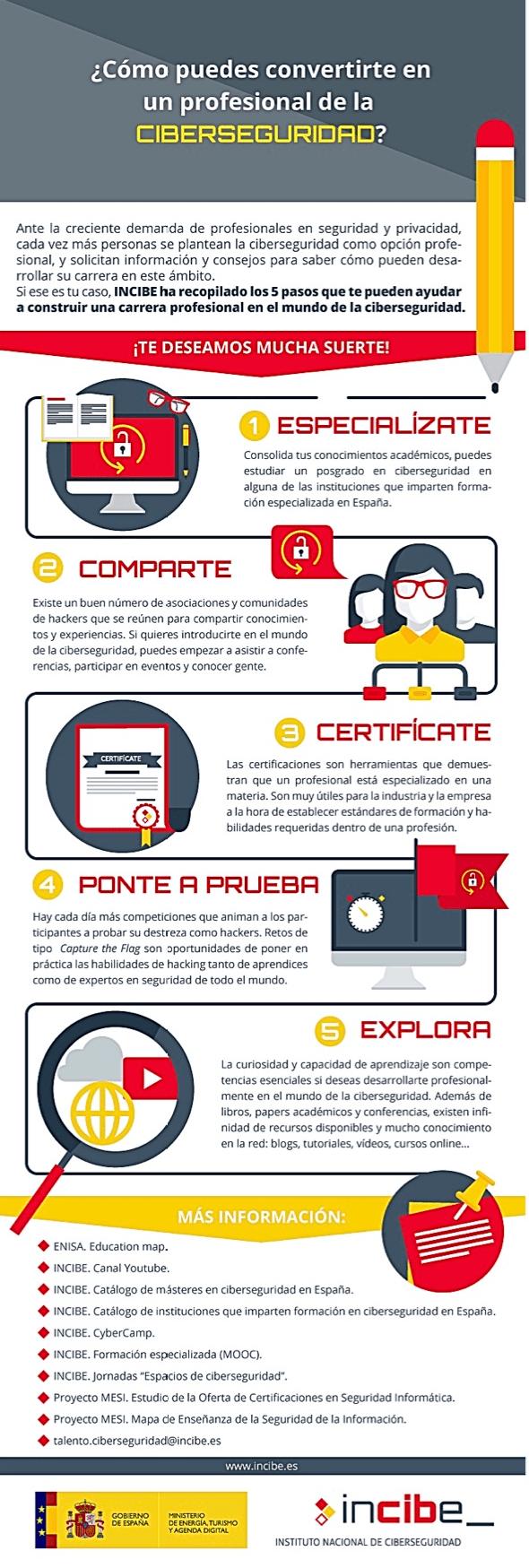 Cómo convertirte en un profesional de la Ciberseguridad