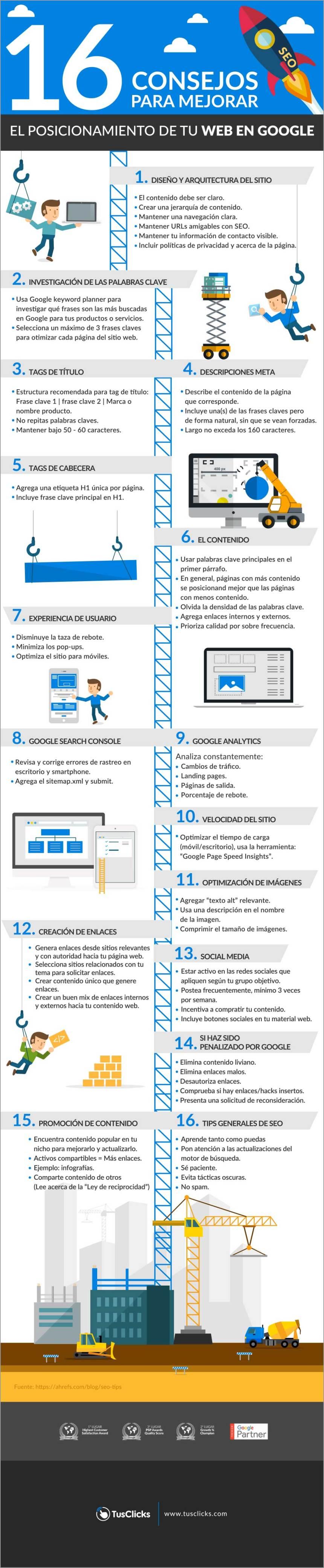 16 consejos para mejorar el posicionamiento de tu web en Google